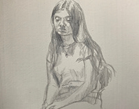 Silver point figurative work