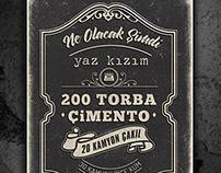 Yeşilçam Tipografik Poster