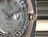 Rolex Pearlmaster 39 Diamonds 3d model