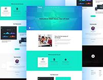 Vixcy l Landing Page Design