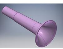 Diseño de Trompeta de Plástico