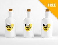 Bottles mockup (Free)