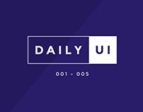 Daily UI 001-005