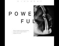 Powerful: Black & White Photography Website