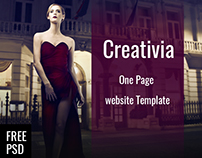 Creativia | Free Psd One Page Template