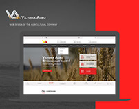 Web design of the agricultural company Victoria Agro