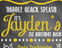 Rubber Ducky Birthday Invite
