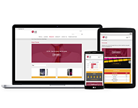 LG Lounge - Responsive training platform