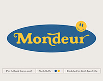 FREE | Mondeur A Playful Hand Drawn Serif
