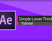 After Effects Tutorial: Clean & Professional lower thir