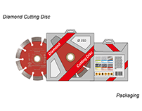 Diamond cutting disc packaging