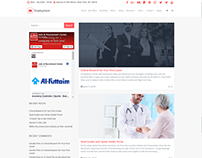 Blog Left Sidebar Page - Employment WordPress Theme