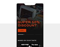 VINYL SHOP mobile app (concept)