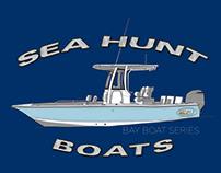 Sea Hunt - Custom Technical Boat Illustrations