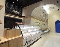 Patisserie shiawase no eki_interior design