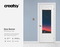 Door Banner Mockup Set