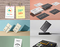 16 New Free Business Card Mockups - December 2015