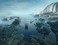 "Matte paintings for feature film "" He is a dragon"""