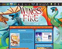 Website designs for Scholastic book series