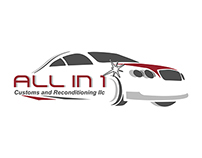 """All In 1 Customs and Reconditioning"" Logo"
