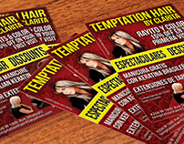 Flyers para Temptation Hair