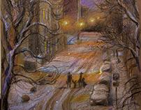 Зимний вечер в Замоскворечье.