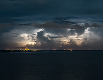 Lightning storm over Cape Canaveral /