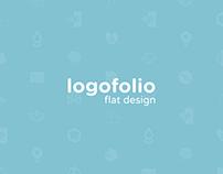 Logofolio flat design