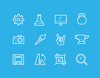 Icons for CleanMyMac 3 In-App Introduction