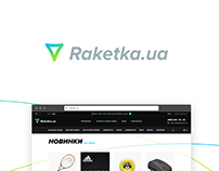Raketka — UI/UX design for online store of sport goods