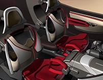 BERTONE Design- Autonomous Sports Car- Interior