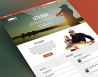 Georgia Fishing Company Homepage Design