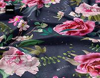 Cotton Fabric Closeup Mockup