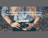 My Wonderwall - Photography Website