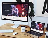 Landing page para bandas da produtora Combo Music