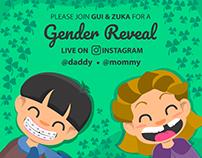 Gender Reveal Card for Instagram