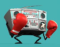 Boombox Boxer