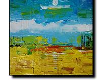 Acrylic on canvas Abstract landscape art..