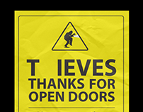 Thieves thanks for open doors /social campaign/
