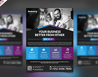 Free PSD : Multipurpose Promotional Flyer PSD Template