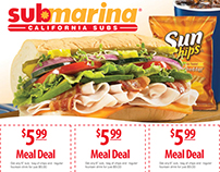 Submarina California Subs - Various Print