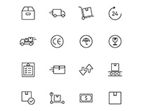 Delivery And Shipping Icons Set
