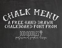 Free Chalkboard Font from dodidoodles!