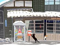 TABINEKO-Cat'sNew Year's card