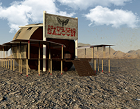 Saloon Exterior Scene