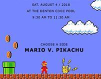 Mario Vs. Pikachu - Css3 animated birthday evite