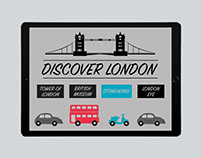 Discover London Flash Page Design