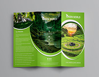 Green Cool Trifold Brochure