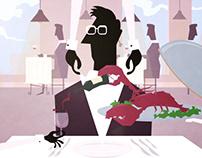 Karakter en achtergrond ontwerp animatie NBC