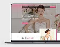 Website PSD template design for Wedding Service